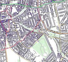 Multiple Deprivation Nunhead ward, Lewisham Sticker