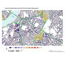 Multiple Deprivation Oval ward, Wandsworth Photographic Print