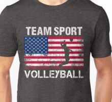 USA  Flag Volleyball T-Shirts - Volleyball Team Gift Unisex T-Shirt