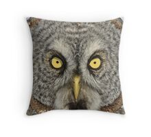 Bet you'll blink first Throw Pillow