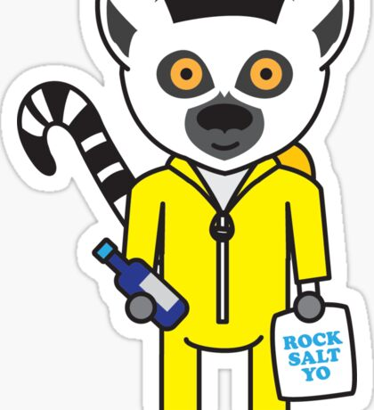 Leroy the Lab Assistant Lemur Sticker