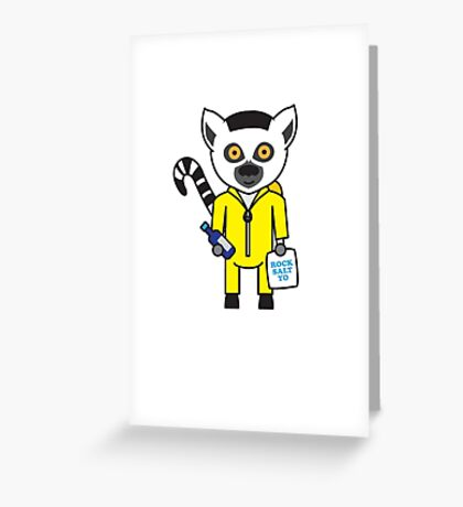 Leroy the Lab Assistant Lemur Greeting Card