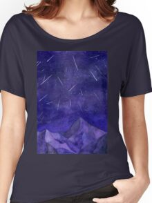 The Perseids, watercolor meteor shower Women's Relaxed Fit T-Shirt