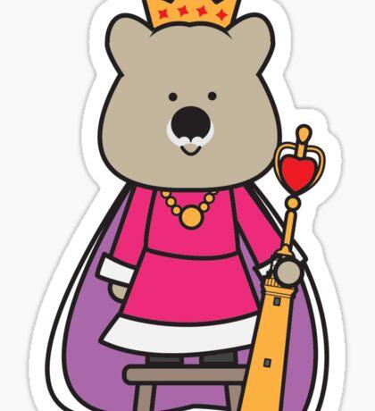 Quinn the Queen Quokka Sticker