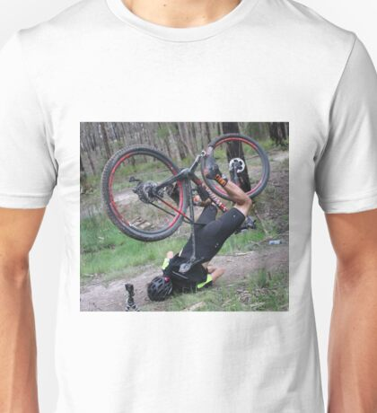 Mountain bike face plant Unisex T-Shirt
