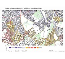 Multiple Deprivation Peckham Rye ward, Lewisham  Photographic Print