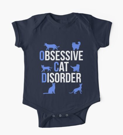 Funny OCD Obsessive Cat Disorder One Piece - Short Sleeve