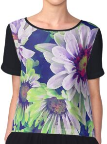 Colourful Floral 3 Chiffon Top