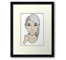 Zed Digital Artwork Framed Print