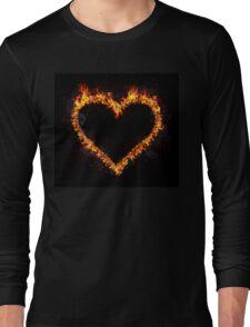 Fire Heart Long Sleeve T-Shirt