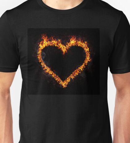 Fire Heart Unisex T-Shirt