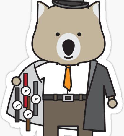 Warren the Watch Salesman Wombat Sticker