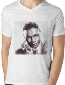Nat King Cole, Singer Mens V-Neck T-Shirt