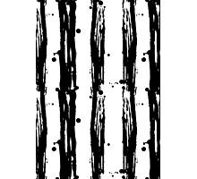 Seamless pattern stripes black and white  Photographic Print