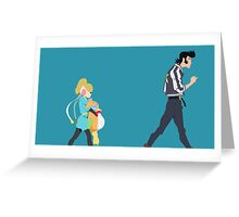 A Dandy Guy and Girl Greeting Card