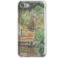 View of woods from cabin, Dune de Pyla, France iPhone Case/Skin