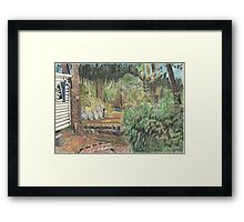 View of woods from cabin, Dune de Pyla, France Framed Print