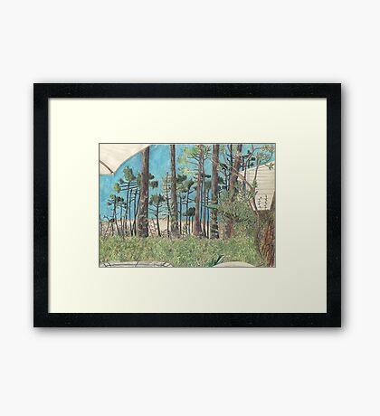 Dune de Pyla through the trees. Framed Print