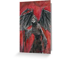 Wing-ed Death.. Greeting Card