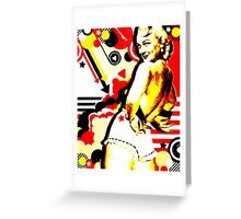 Striptease Greeting Card