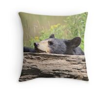 This log is just right Throw Pillow