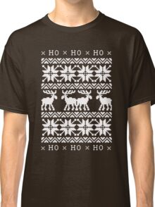 CHRISTMAS DEER SWEATER KNITTED PATTERN Classic T-Shirt