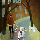 Walking the dogs by Lynn Starner