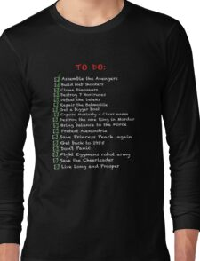 My busy 'To Do' List Long Sleeve T-Shirt