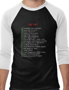 My busy 'To Do' List Men's Baseball ¾ T-Shirt