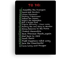 My busy 'To Do' List Canvas Print
