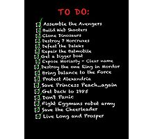 My busy 'To Do' List Photographic Print