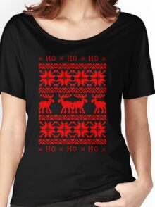 UGLY CHRISTMAS SWEATER KNITTED PATTERN Women's Relaxed Fit T-Shirt