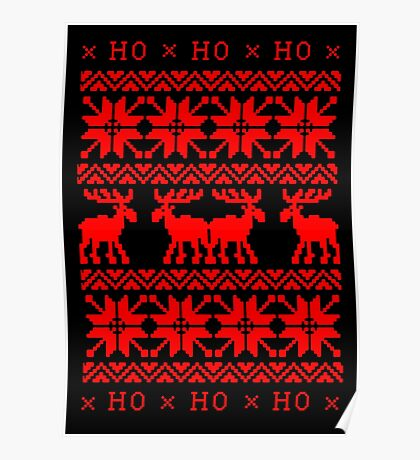 UGLY CHRISTMAS SWEATER KNITTED PATTERN Poster