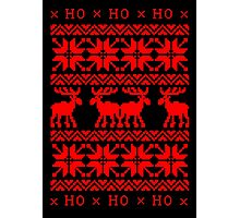 CHRISTMAS DEER SWEATER KNITTED PATTERN Photographic Print
