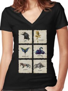 Awesome Creaturess Women's Fitted V-Neck T-Shirt