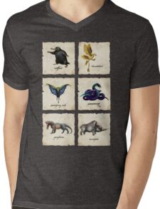 Awesome Creaturess Mens V-Neck T-Shirt