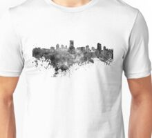 Milwaukee skyline in black watercolor Unisex T-Shirt