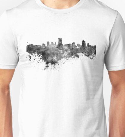 Milwaukee skyline in black watercolor Unisex T-Shirt