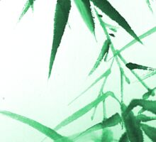 Green Bamboo Twig Sticker