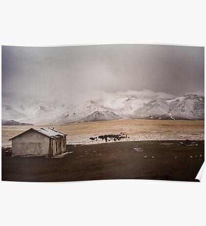 Tajik Mountain Desert Poster