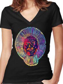 Awaken, My Love! Women's Fitted V-Neck T-Shirt