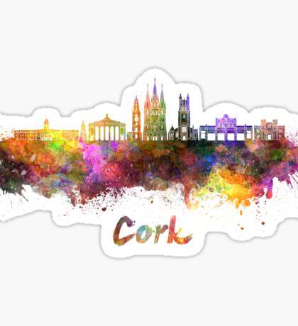Cork skyline in watercolor Sticker