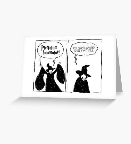 Piertotum Locomotor Greeting Card