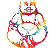 Tie-Dye Buddha by kzenabi