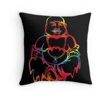 Melting Tie-Dye Buddha Throw Pillow