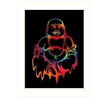 Melting Tie-Dye Buddha Art Print