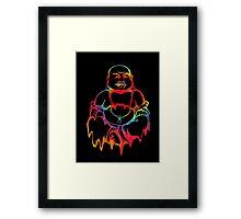 Melting Tie-Dye Buddha Framed Print