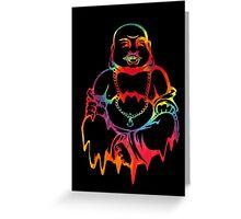 Melting Tie-Dye Buddha Greeting Card