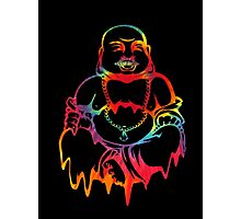 Melting Tie-Dye Buddha Photographic Print