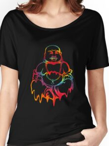 Melting Tie-Dye Buddha Women's Relaxed Fit T-Shirt